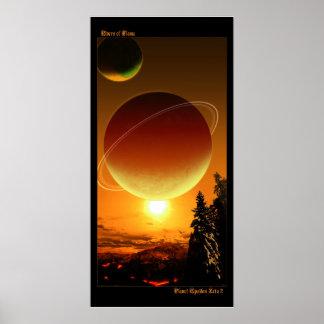 Ríos de la llama - zeta épsilon 2 del planeta impresiones