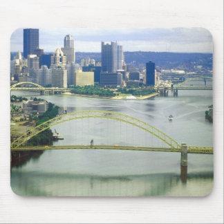 Ríos de Pittsburgh Pennsylvania Alfombrillas De Raton