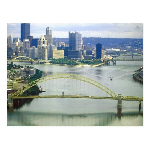 Ríos de Pittsburgh Pennsylvania Tarjeta Postal