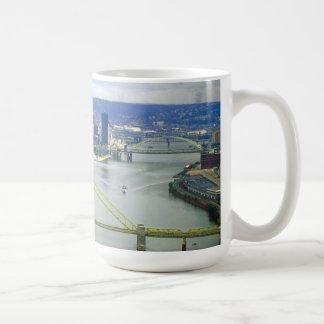 Ríos de Pittsburgh Pennsylvania Tazas De Café