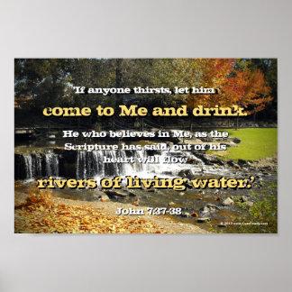 Ríos del agua viva, biblia del cristiano del 7:37  impresiones