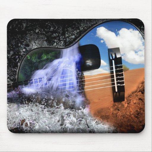Ríos en el desierto (guitarra Mousepad) Tapete De Ratones