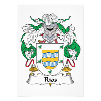 Rios Family Crest Cards