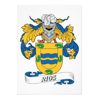 Rios Family Crest Personalized Invites