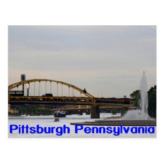 Ríos Postc de Allegheny Monongahela Ohio de la Tarjeta Postal