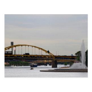 Ríos Postc de Allegheny Monongahela Ohio de la Tarjetas Postales