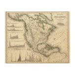 Ríos y montañas norteamericanos impresiones en madera