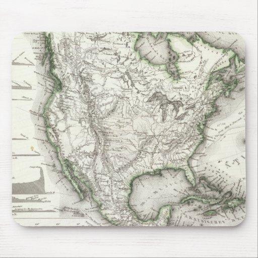 Ríos y montañas norteamericanos mouse pads