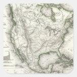Ríos y montañas norteamericanos pegatina cuadrada