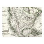 Ríos y montañas norteamericanos postal