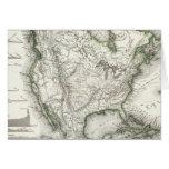 Ríos y montañas norteamericanos tarjetón