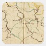 Ríos y valles de Alemania Calcomania Cuadradas Personalizadas