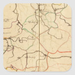 Ríos y valles de Alemania Pegatinas Cuadradas Personalizadas