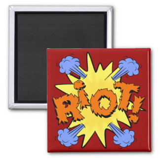 Riot 2 Inch Square Magnet