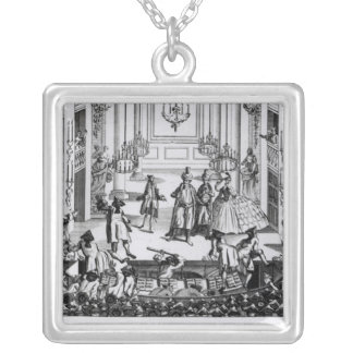 Riot at Covent Garden Square Pendant Necklace