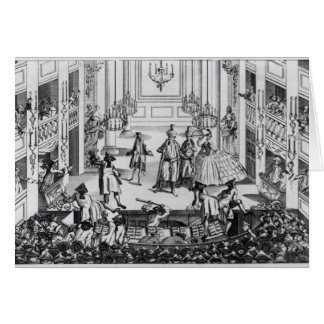 Riot at Covent Garden Theatre in 1763 Card