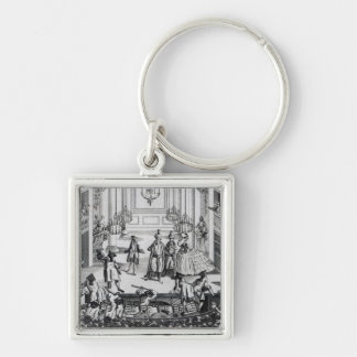 Riot at Covent Garden Theatre in 1763 Keychain