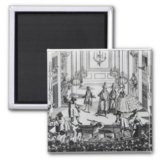 Riot at Covent Garden Theatre in 1763 2 Inch Square Magnet