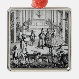 Riot at Covent Garden Theatre in 1763 Metal Ornament