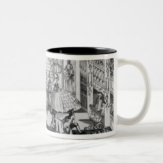 Riot at Covent Garden Theatre in 1763 Two-Tone Coffee Mug