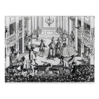 Riot at Covent Garden Theatre in 1763 Postcard