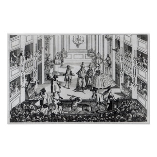 Riot at Covent Garden Theatre in 1763 Poster