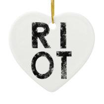 Riot Ceramic Ornament
