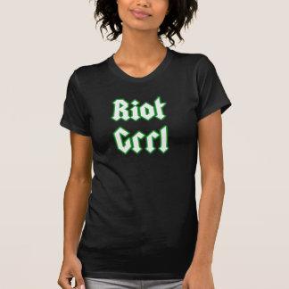 Riot Grrl T Shirt Green Type