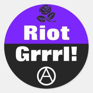 riot grrrl! round sticker