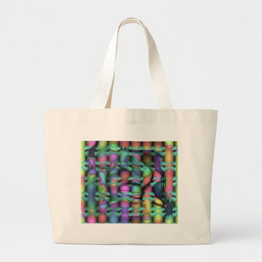 riot in a crayon box large tote bag