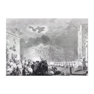 Riot in Broad Street, June 1780 Stretched Canvas Print