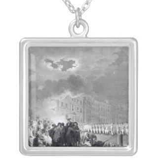 Riot in Broad Street, June 1780 Square Pendant Necklace