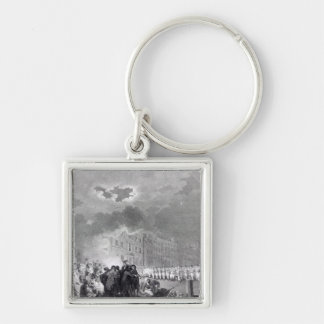Riot in Broad Street, June 1780 Silver-Colored Square Keychain