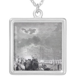 Riot in Broad Street, June 1780 Silver Plated Necklace