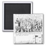 Riot in St. Giles' Cathedral, Edinburgh 2 Inch Square Magnet