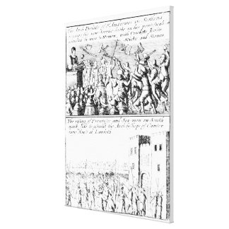 Riot in St. Giles' Cathedral, Edinburgh Canvas Print