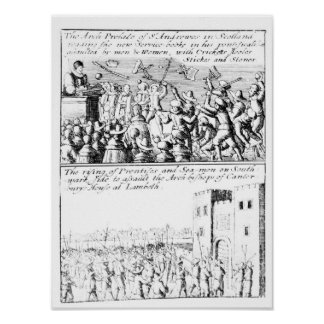 Riot in St. Giles' Cathedral, Edinburgh Posters