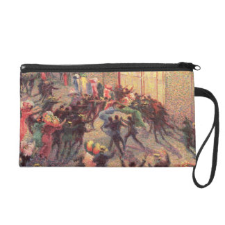 Riot in the Galleria, 1909 (oil on canvas) Wristlet Purse