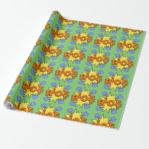 Riot Kapow Cartoon explosion Wrapping Paper
