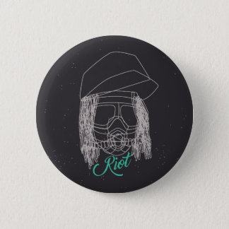Riot Line Pinback Button