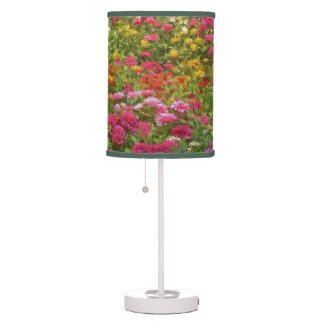 """RIOT OF COLOR FLOWER GARDEN"" (DIGITAL MANIP) TABLE LAMP"