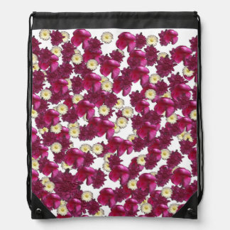 Riot of Flowers by KCS Drawstring Backpack