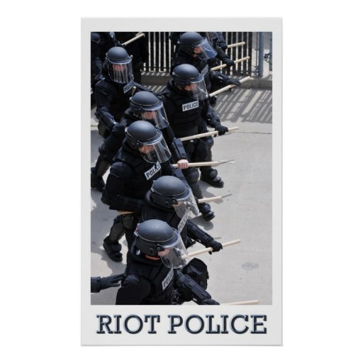 Riot Police Posters