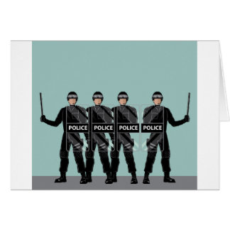 Riot Police with shields Card