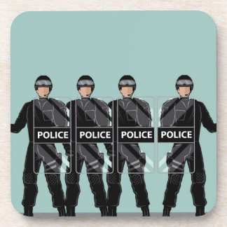 Riot Police with shields Coaster