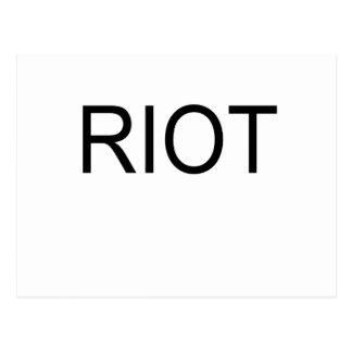 riot postcard