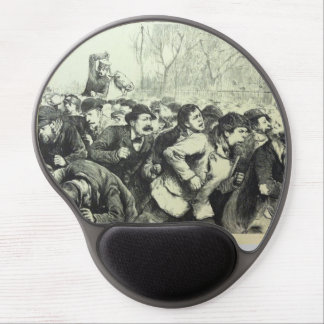 Riot Scene Gel Mouse Pad