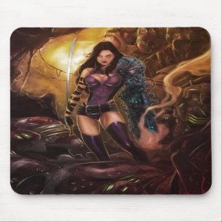 Riot Shell smoking Mouse Pad