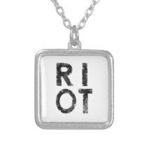 Riot Silver Plated Necklace