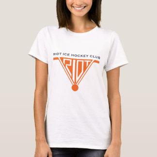Riot Womens White Baby Doll T-Shirt